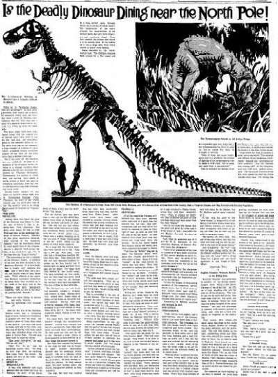 Prehistoric Newspaper Article