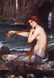 4. John William Waterhouse&#039;s A Mermaid, 1901.
