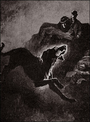 Beware of the Black Dog. Copyright Sidney Paget.