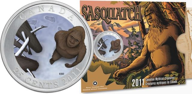 Canada 2011 Coloured Coin - Sasquatch