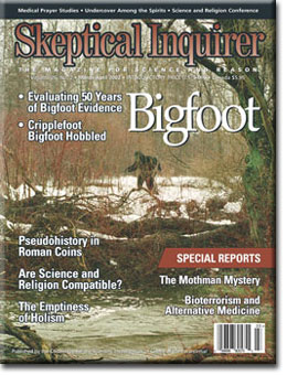 Skeptical Inquirer Bigfoot