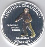 Cook Islands  Bigfoot multi-colored silver-plated 1 Dollar coin
