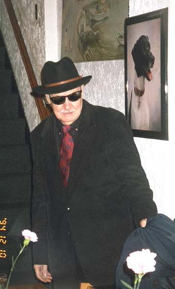 John Keel in his Men In Black Outfit
