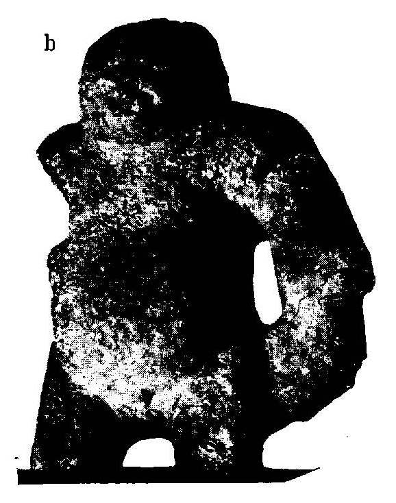 Gorilla-like statues in Yucatan