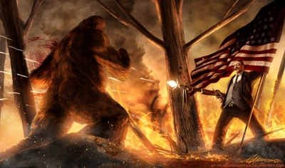 teddy_roosevelt_vs__bigfoot_by_sharpwriter-400
